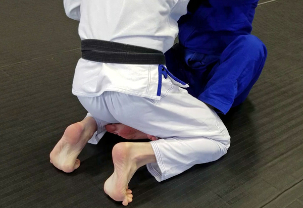 Brazilian Jiu-Jitsu Butterfly Guard Position