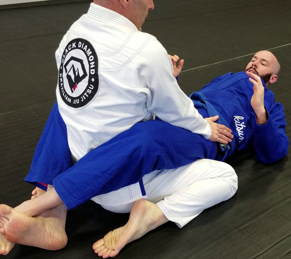 Brazilian Jiu-Jitsu Closed Guard Position Postured Up
