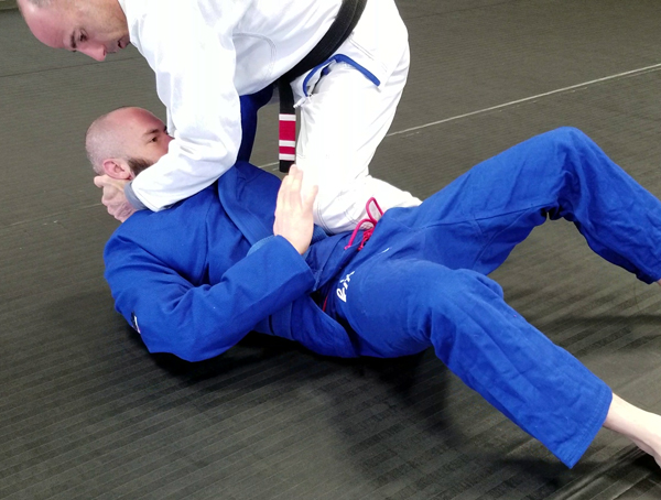 Brazilian Jiu-Jitsu Knee on Belly Position