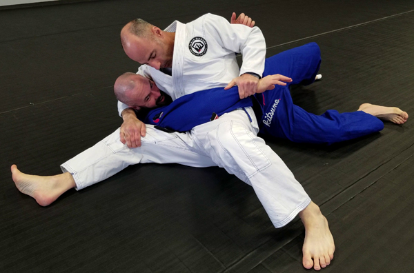 Brazilian Jiu-Jitsu Scarf Hold Position