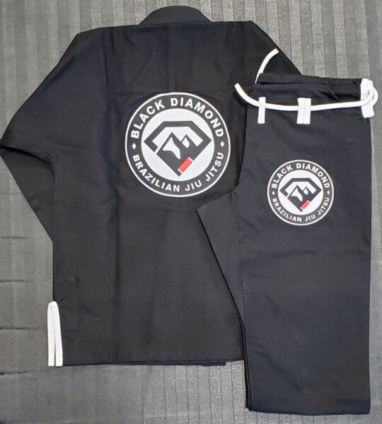 Black Diamond BJJ Embroidered Gi Back w Ripstop Pants