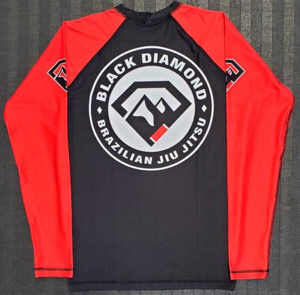 Black Diamond BJJ Full Sleeve Rash Guard Back