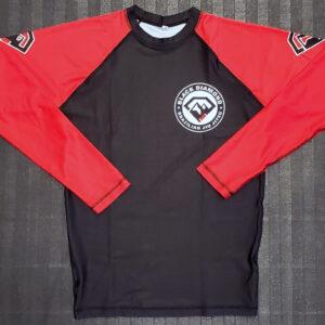 Black Diamond BJJ Full Sleeve Rash Guard Front
