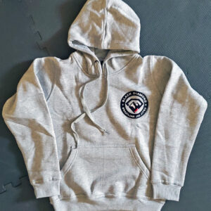 Black Diamond BJJ Embroidered Logo Gray Pullover Hoodie Front
