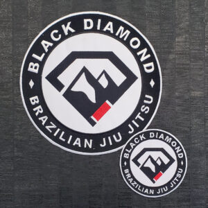 Black Diamond BJJ Embroidered Logo Patch Set